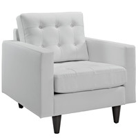 Empress Leather Armchair White