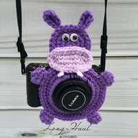 Hippo Camera Accessory, Camera Accessory, Camera Buddy,Hippo Crochet, Photography, Children Photography, Crochet Hippo, Hippo Lens Buddy