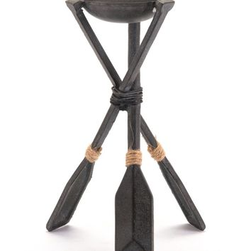 Paddle Candle Holder Small Black