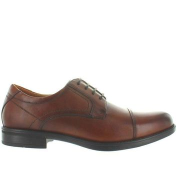 CREYONIG Florsheim Midtown Cap Ox - Cognac Leather Cap Toe Oxford