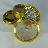 Cali Crusher® Gold CLEAR TOP 4 Piece Herb Grinder (CC-1-Gold)