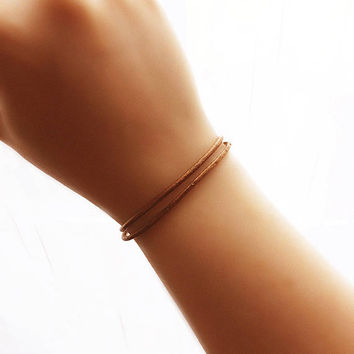 Leather Bracelet - best friend gift - boho jewelry - leather jewelry - minimalist bracelet - copper leather bracelet - mens bracelet