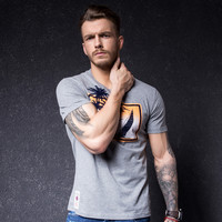 Men's Fashion Summer Men Short Sleeve  Round-neck Print T-shirts [10488639107]