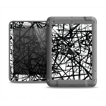 The Black and White Shards Apple iPad Air LifeProof Fre Case Skin Set