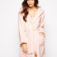 New Look Animal Heart Burnout Robe