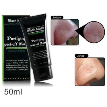New Deep Cleansing Purifying Peel Off Mud Blackhead Face Mask Black Mask Remove Black Head Makeup Beauty Gift