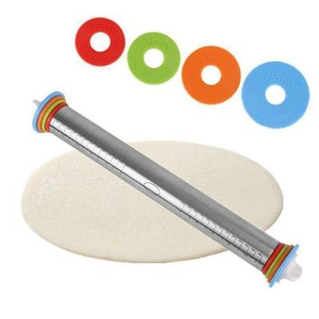 "Adjustable 17"" Stainless Steel Rolling Pin"
