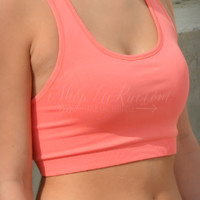NIKIBIKI RACER BACK SPORTS BRA - MELON