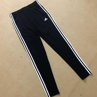 Adidas Womens Classic Black Three Stripe Pants Sweatpants