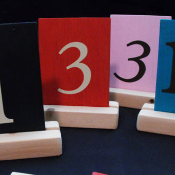 Table Numbers set of 12 Wedding, Parties Fundraisers Corporate Events Turquoise Angels Original