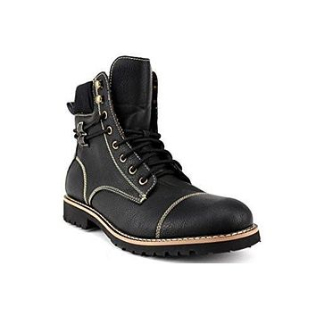 Men's 808570 Tall Designer Fleece Lined Lace Up Military Combat Desert Work Boots