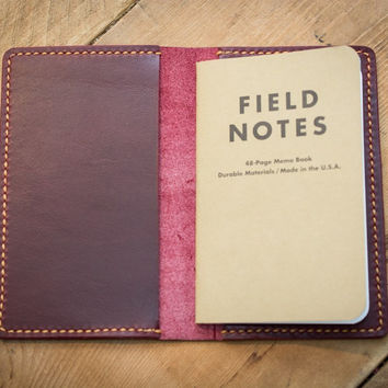 Cherry Leather Field Notes Cover