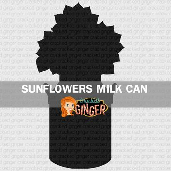 Sunflowers in a Milk Can Wood Cut Out Kit