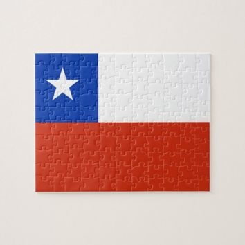 Puzzle with Flag of Chile