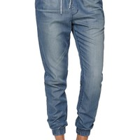 Bullhead Denim Co Seaway Blue Jogger Pants - Womens Jeans - Blue