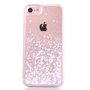 Love Heart Stars Glitter Stars Phone Case for iPhone