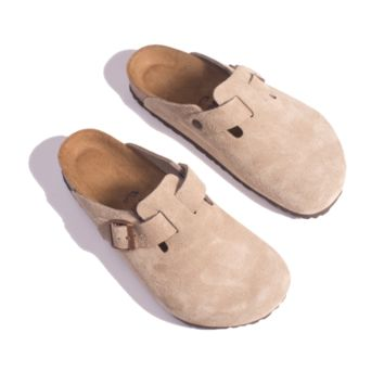 Boston Clog - Taupe Suede