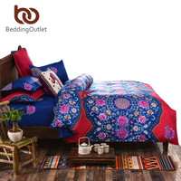 BeddingOutlet Boho Bedding Set Floral Bed Linen Home Textiles Printed Duvet Cover 4Pcs Twin Queen couvre lit Direct Selling