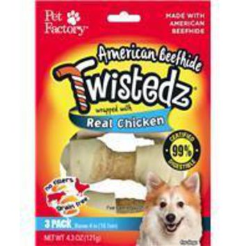 Pet Factory Inc-Twistedz Beefhide Bone