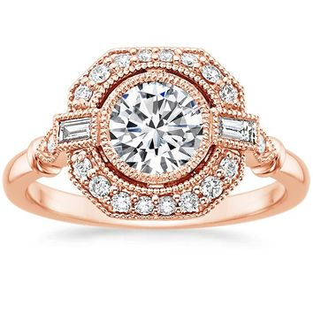 14K Rose Gold Ostara Diamond Ring (1/4 ct. tw.)