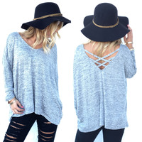Indulge Knit Top In Grey
