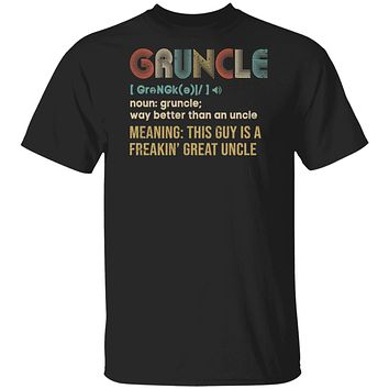 Gruncle For Great Uncles Definition Awesome Vintage Gift