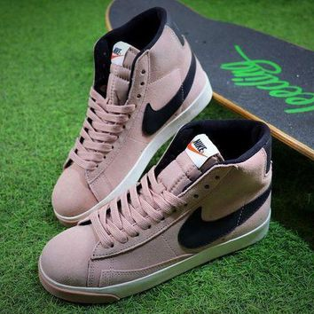 LMFUX5 Nike Blazer Mid Vintage X BEAUTY & YOUTH Pink Black Shoes