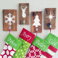 Rustic Christmas Stocking Holder