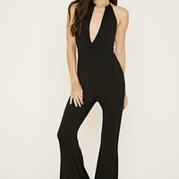 Bar-Accented Halter Jumpsuit