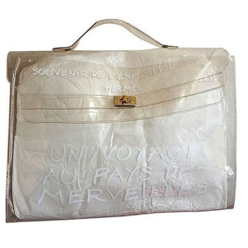 Vintage Hermes a rare transparent clear vinyl Kelly bag, Japan limited Edition. Rare masterpiece