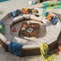 Outdoor Furniture: Cushy Circle Set from PB Teen | Apartment Therapy