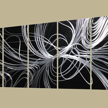 Metal Wall Art Abstract Decor Contemporary Modern by Ryanart2011