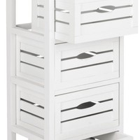 Sarina 5 Drawer Cabinet White