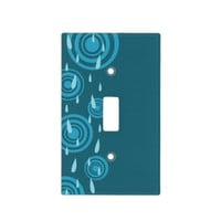Blue Rain Light Switch Cover