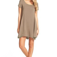 Junior Women's Socialite Woven Trapeze Dress,