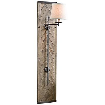 "Regina Andrew Design Herringbone 60"" Swing-Arm Sconce - #4R147 