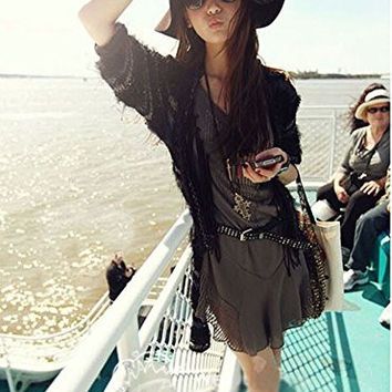 The Trendy Women Felt Wide Brim Fedora Top Hat/ Blue