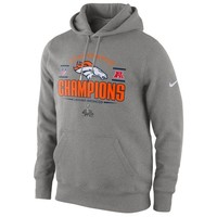Nike Denver Broncos 2013 AFC Champions Trophy Collection Pullover Hoodie - Dark Gray