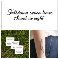 Stand for Something  temporary tattoo Set of 4 by Tattify on Etsy