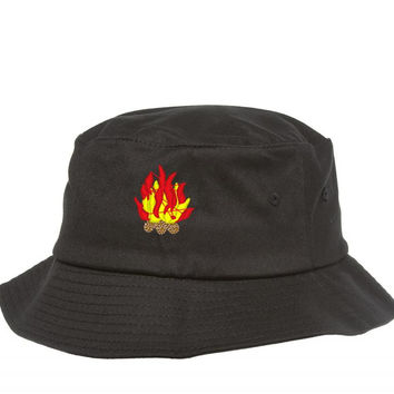 sp3267 campfire embroidery Bucket Hat