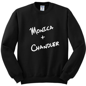 "Friends TV Show F.R.I.E.N.D.S ""Monica + Chandler"" Crewneck Sweatshirt"