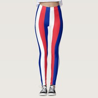 Leggings with flag of France