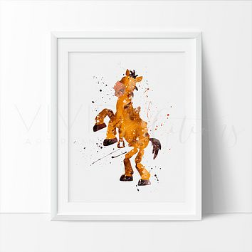 Bullseye, Toy Story Watercolor Art Print