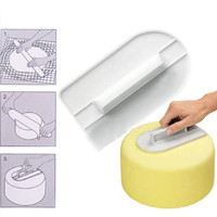 New Brand Cake Pizza Smoother Polisher Tools Cutter Fondant Sugarcraft Kitchen Gadget Cake Decorating Tools Espatula INGT
