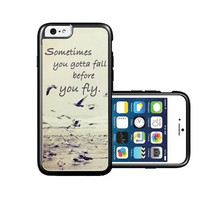 RCGrafix Brand Sometimes You Gotta Fall Quote Ocean iPhone 6 Case - Fits NEW Apple iPhone 6