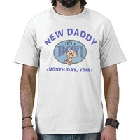 New Baby Boy Personalized New Daddy T-Shirt from Zazzle.com