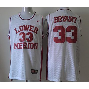 Basketball Jerseys Lower Merion High School #33 Kobe Bryant White
