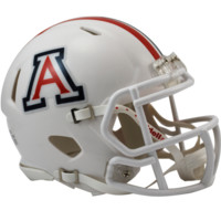 Arizona Alternate Whtie Speed Mini Helmet - Arizona Wildcats - A - College Football - Collectibles