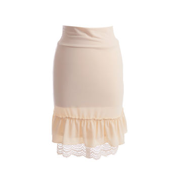 Sweet Pea Crochet Trim Skirt Extender | Cream