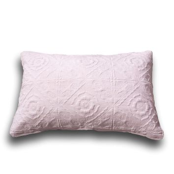 """DaDa Bedding Elegant Country Floral Tea Rose Pink Quilted King Pillow Sham, 20"""" x 36"""" 1-PC (JHW860)"""